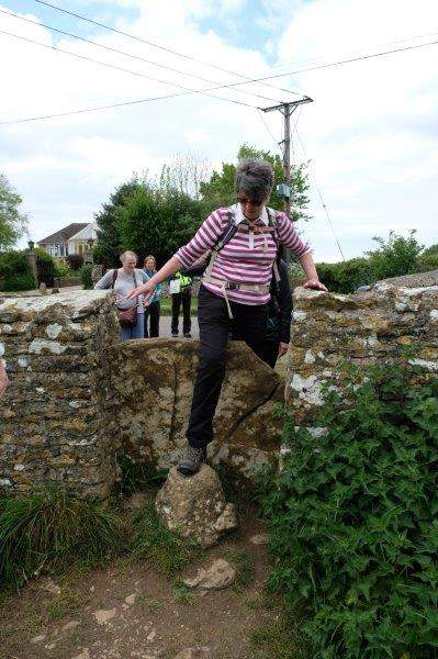 Off again and Ann shows how to get over this stile