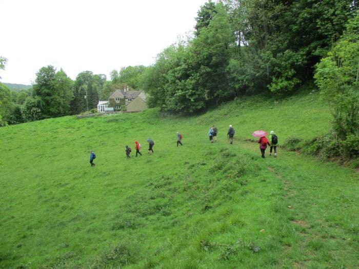 Then we head steeply downhill