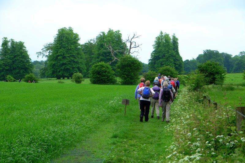 As we follow a path into the Sherborne Estate