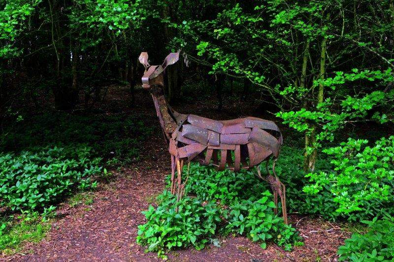 And yet another woodland sculpture