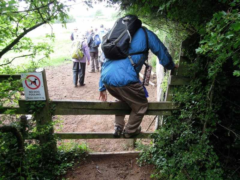 Ah, over a tricky stile