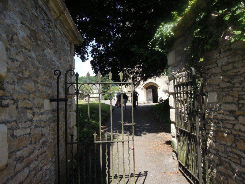 Up to the parish church