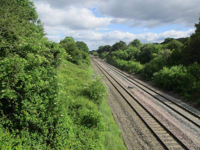 And go over the railway line
