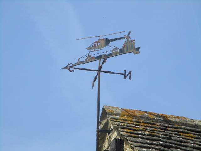 The helicopter wind vane isn't moving