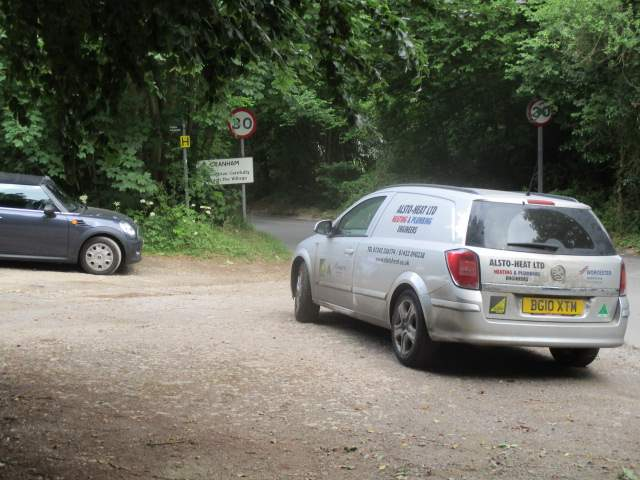 Jean and Paul's first walk and someone manages to block off the car park and leave the engine running!