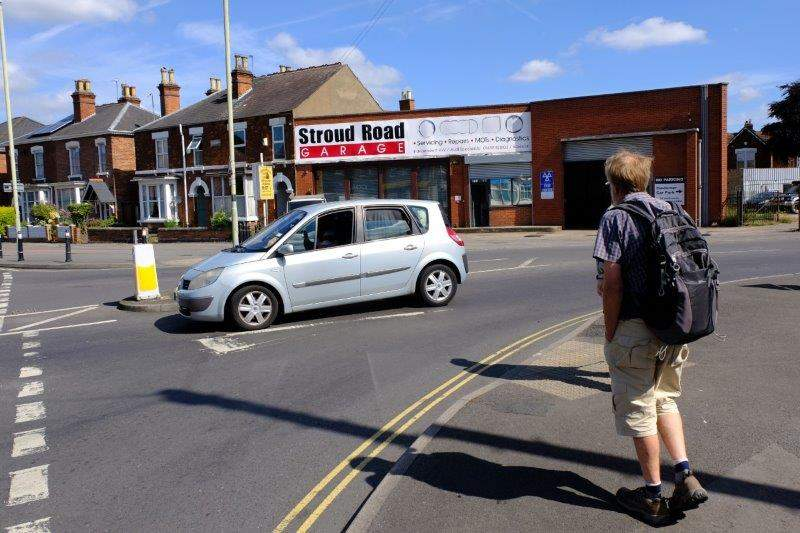 We head off into Gloucester on the Stroud Road