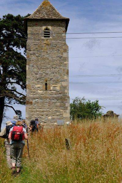 Including the old church tower at Lassington