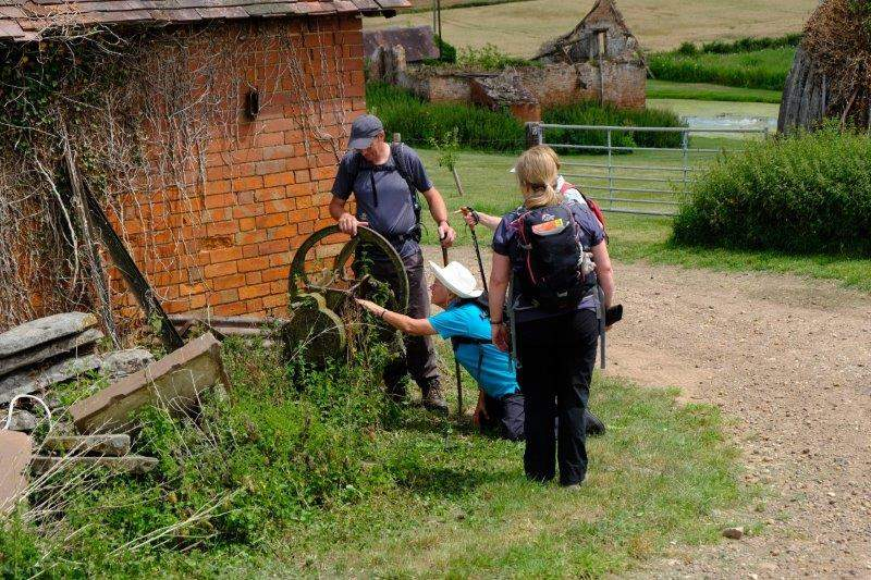 Continuing through Lassington Farm Lenneke finds an interesting bit of farm machinery