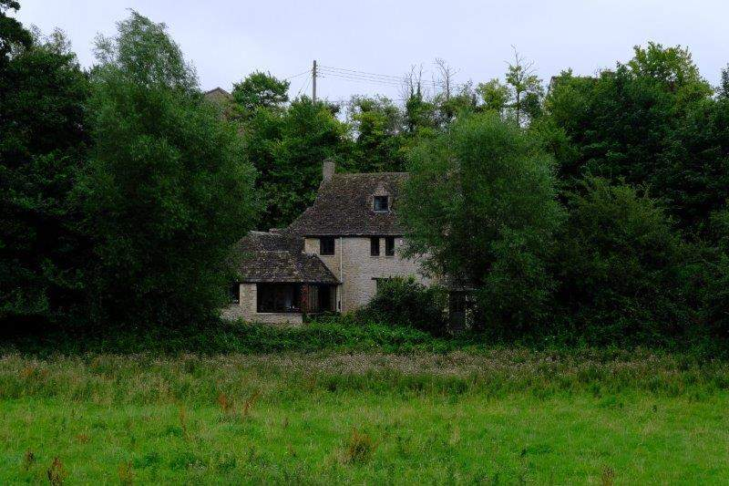 A house nestling in the valley