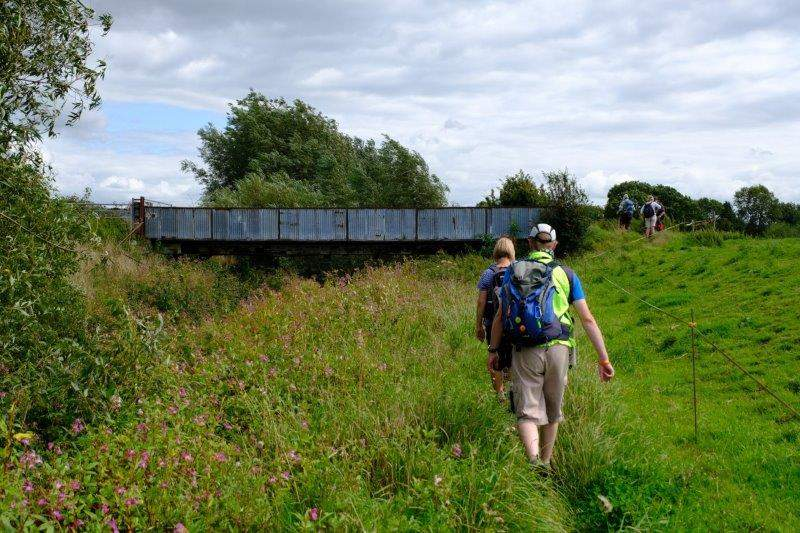 As we continue along the  canal