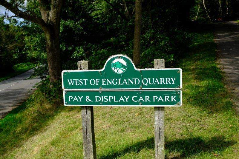 And down to the car park - yes, it is the West of England Quarry car park