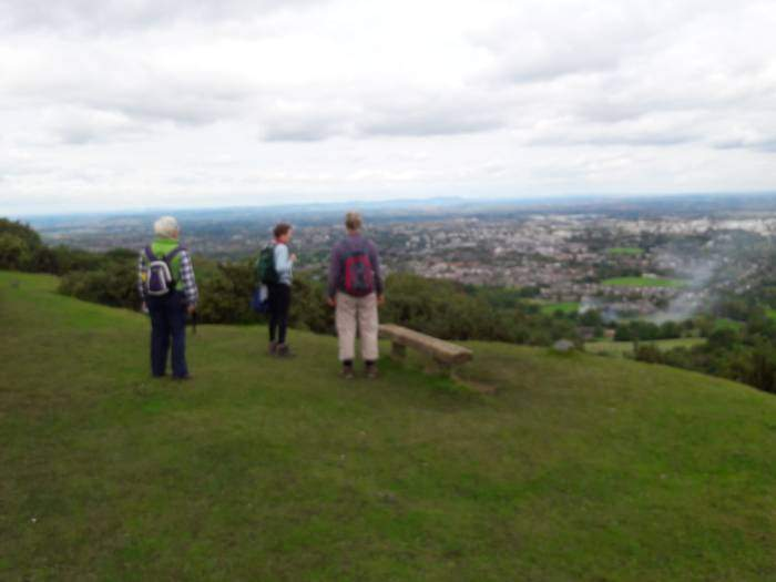 Great views as we walk along top