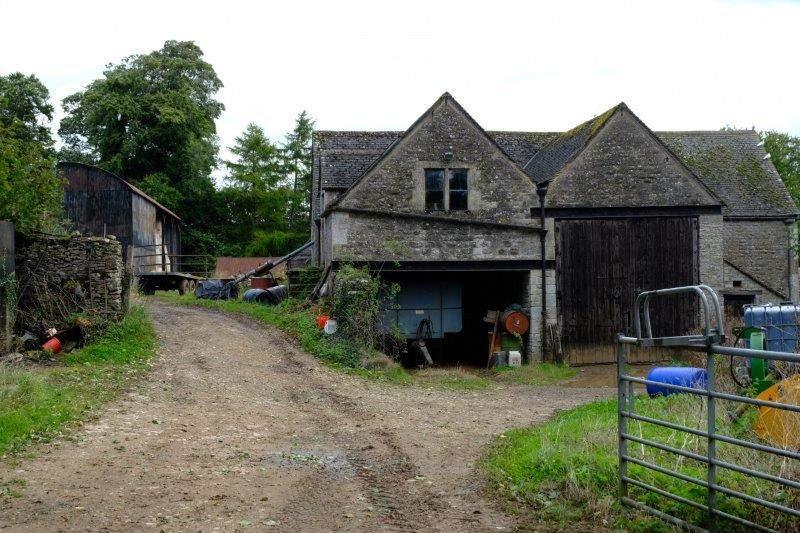 Past a farmyard