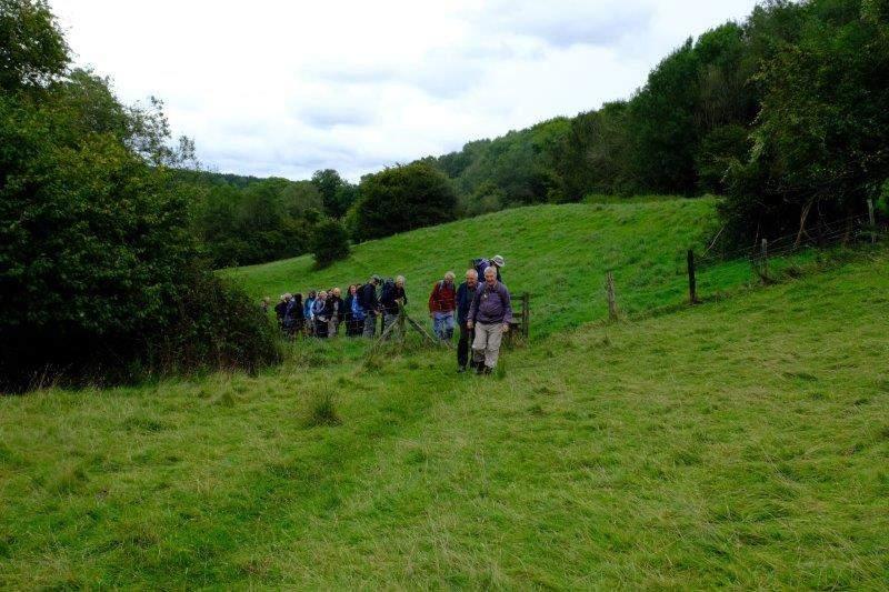 Now heading up Battlescombe Valley