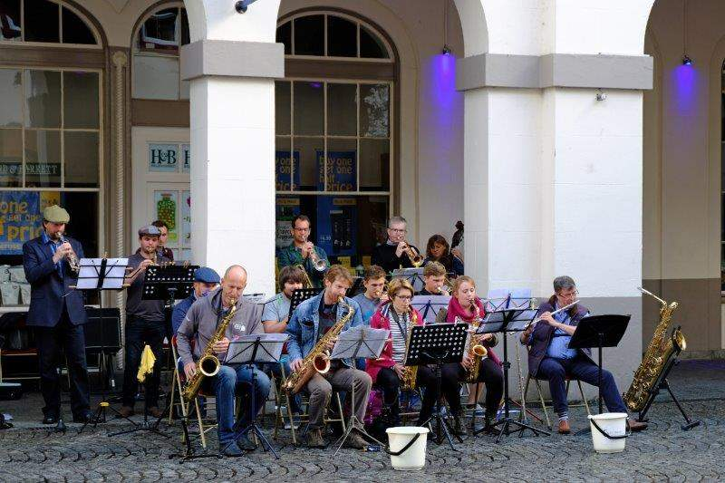 A jazz band playing as part of the Food Festival