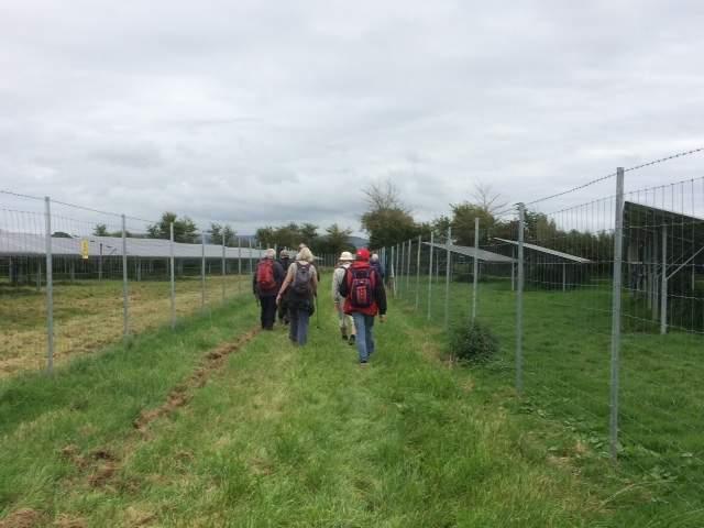 Then head through Hill House Solar Farm