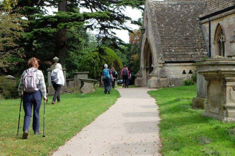 Then it's through the church back to the car park