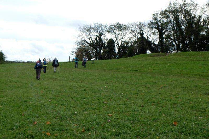 We head uphill past the Long Barrow and back to the cars