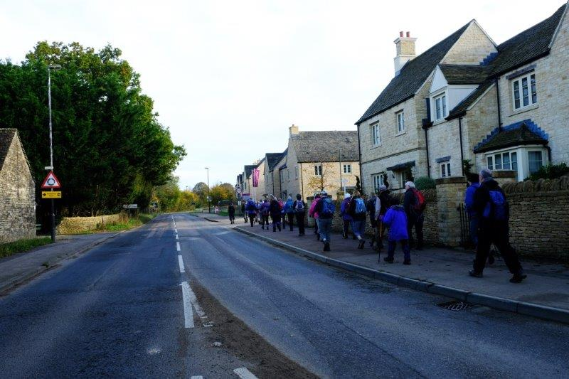 Pounding the streets of Tetbury