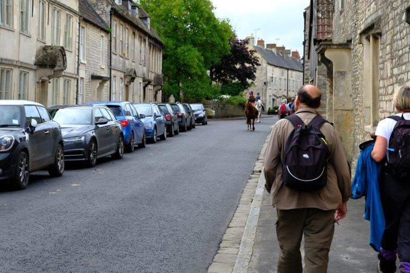 Back through the village to the cars