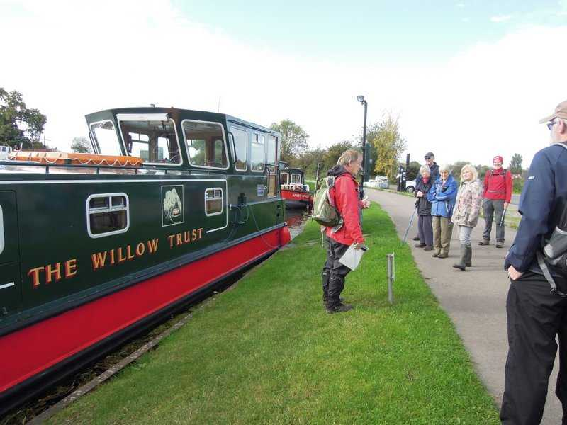 Before our walk, Patrick tells us about The Willow Trust