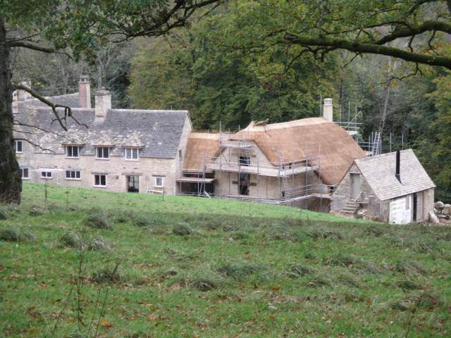 And an equally imposing extension, with thatched roof