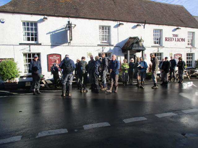Outside the Red Lion