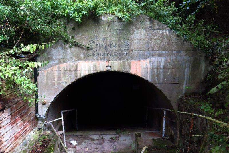 St Saviours Tunnel. German WW2 munitions dump built under church