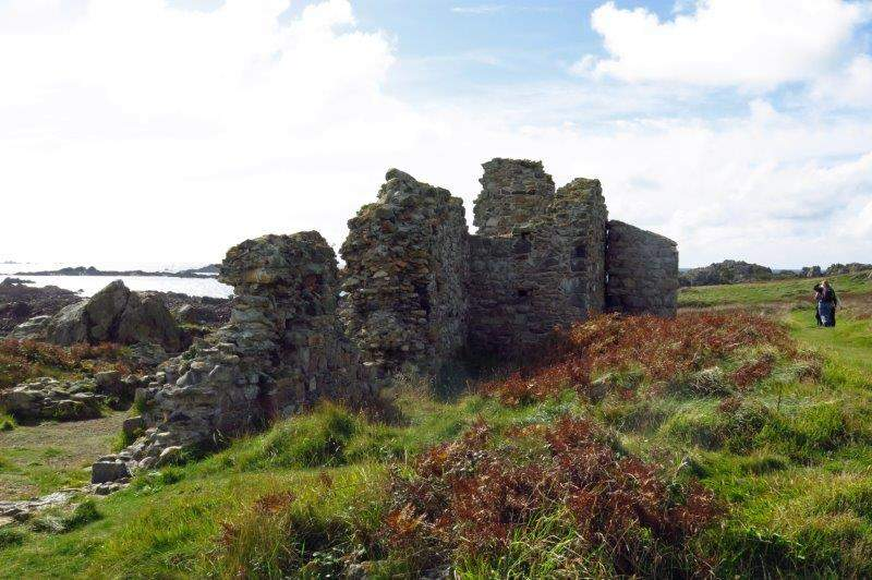 The ruins of an old Benedictine Priory