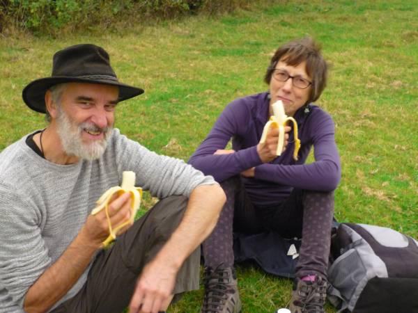 Ed and Heather enjoying their bananas