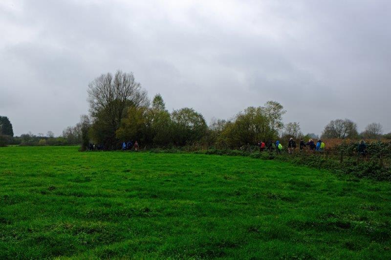 We circle a field