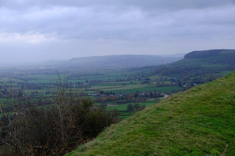 And up the Cotswold Escarpment