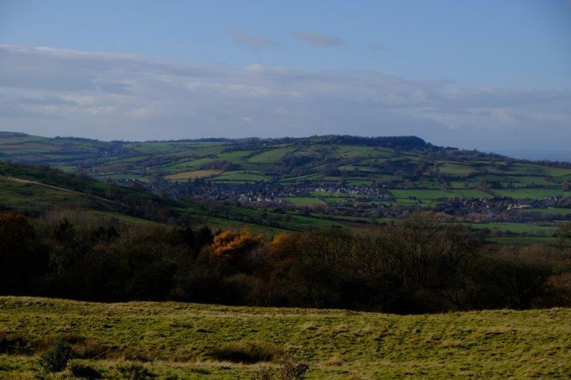 Winchcome nestling between the hills