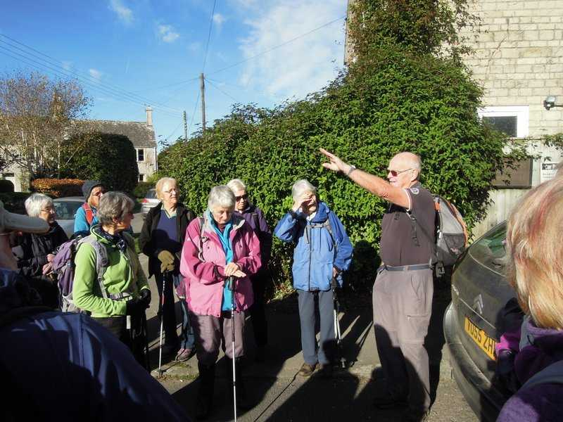 Brian leads our Autumn leaves walk