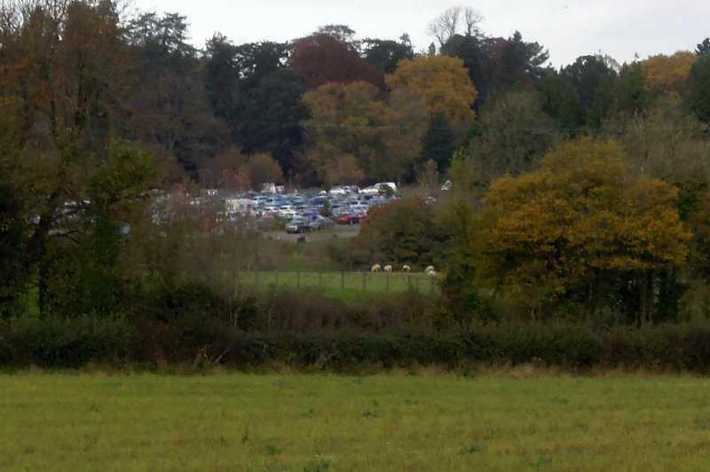 Back in Gloucestershire Westonbirt car park is very full