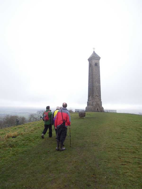 To the Tyndale monument above North Nibley