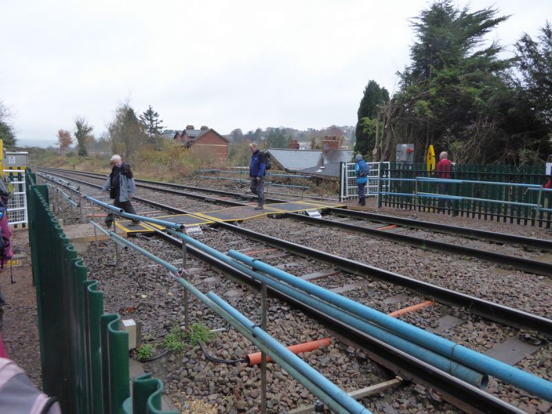 We re-cross the railway on another new crossing