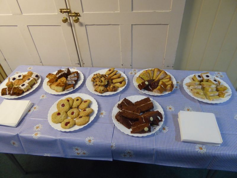 Delicious cakes ready for us on our return