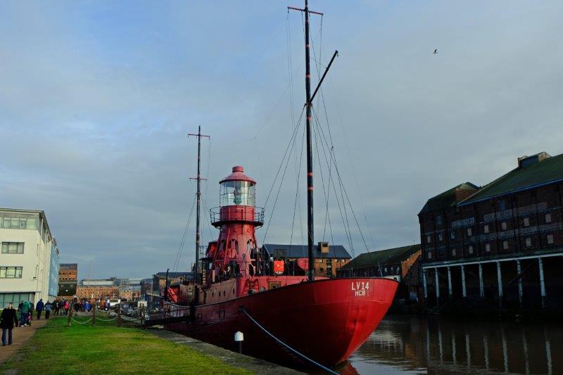 Old lightship in the docks