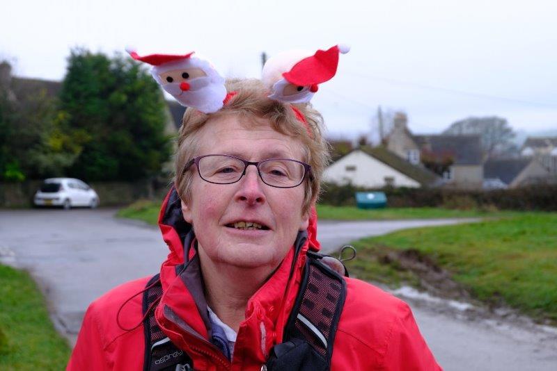 As leader on the pre Christmas walk