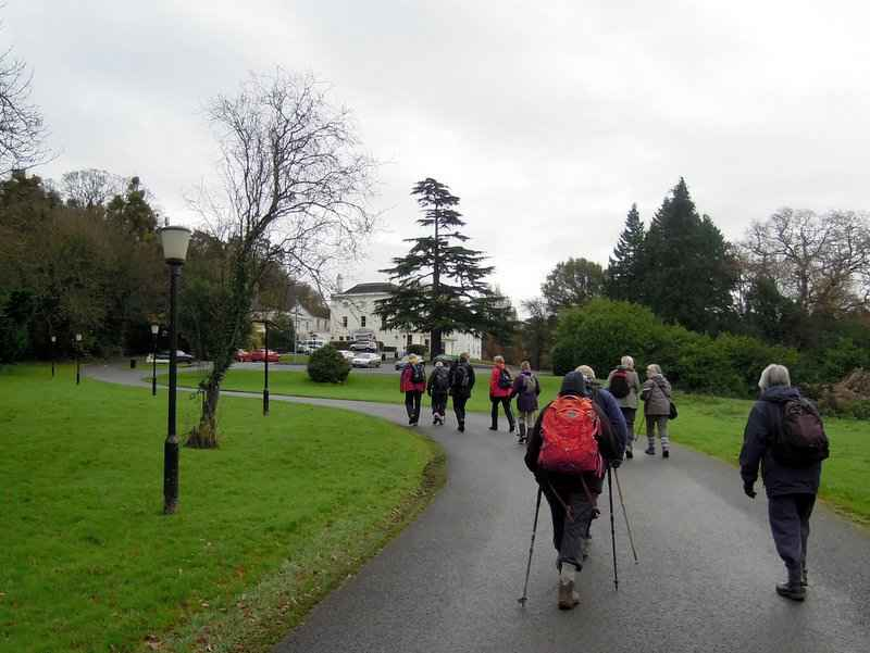 And up the drive towards Bowden Hall