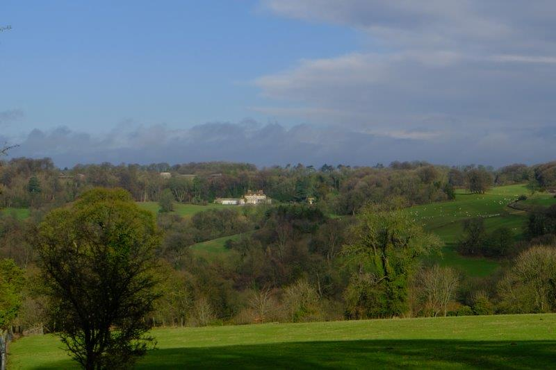 And back across to Gatcombe House