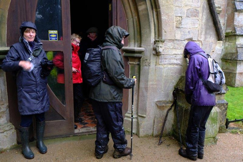 We leave Coaley Church after our coffee stop
