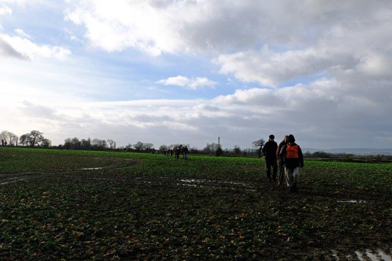 Finally across a muddy field back to the start