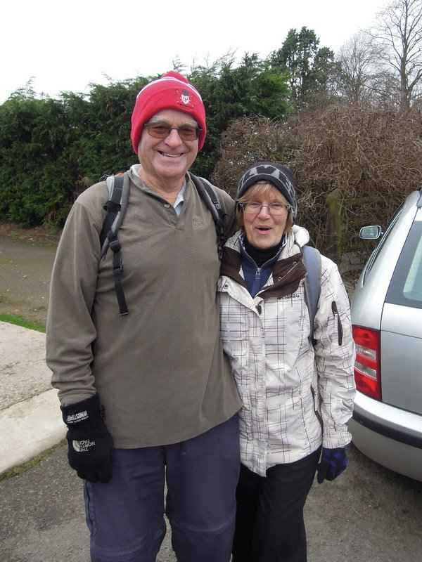 Cold weather, and Brian and Ann are ready to go, even Brian is warmly dressed