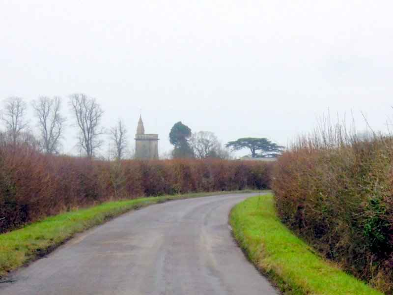 Looking back at the church, which we are due to pass at the end of the walk