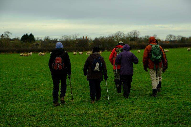 Before we head off through a field of sheep