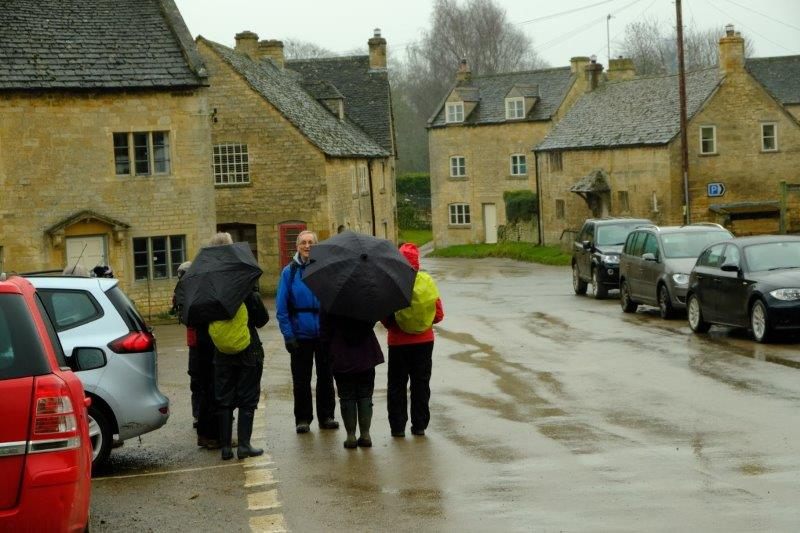 Ready for Dave to lead us out through the village
