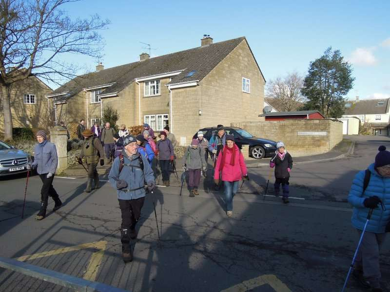 Setting off through the streets of Wotton…
