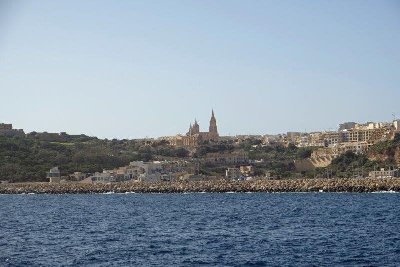 Nearing the harbour at Mgarr on Gozo